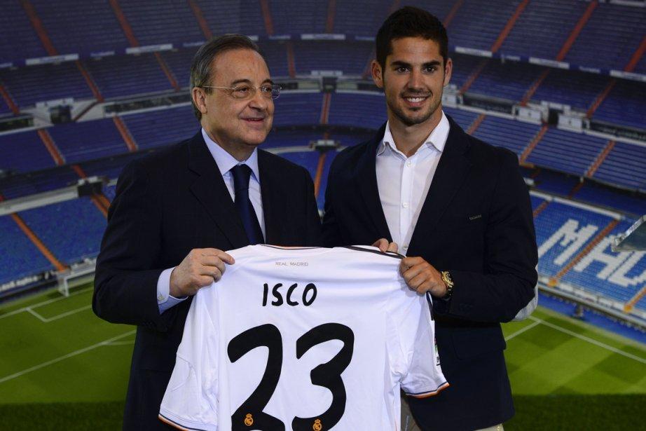 Le président du Real Madrid Florentino Perez et... (Photo Javier Soriano, AFP)