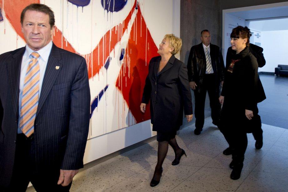 Pauline Marois, Première Ministre du Québec et Nathalie... (PHOTO ALAIN ROBERGE, LA PRESSE)