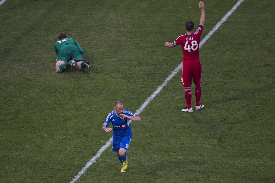 Marco Di Vaio (au centre) a marqué le... (Photo Chris Young, PC)