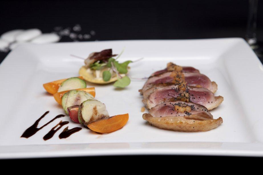 Les repas servis sur le Cavalier Maxim sont dignes des grands restaurants: la présentation est soignée et l'ambiance, incomparable. (Photo fournie par Croisières AML)