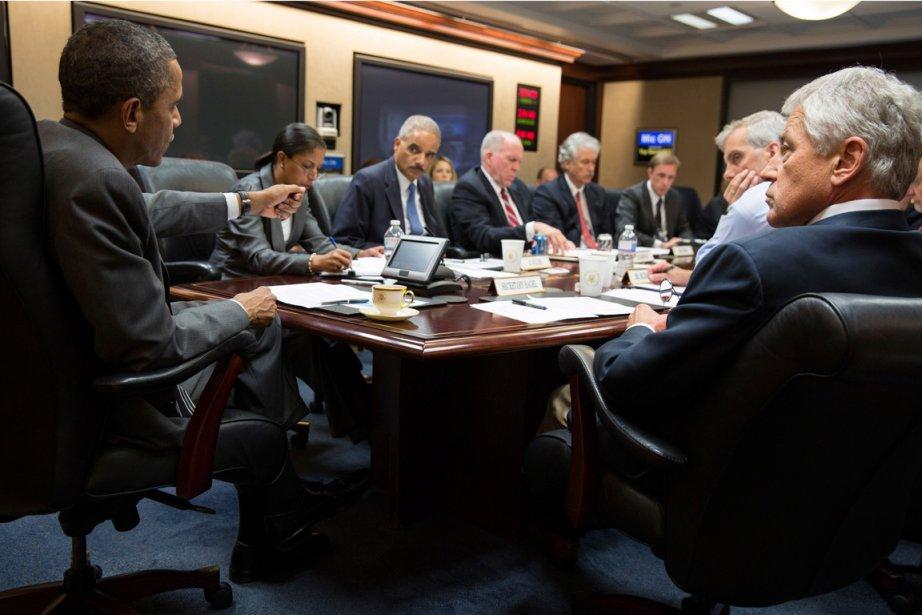 Barack Obama a rencontré les membres de son... (PHOTO PETE SOUZA, REUTERS)