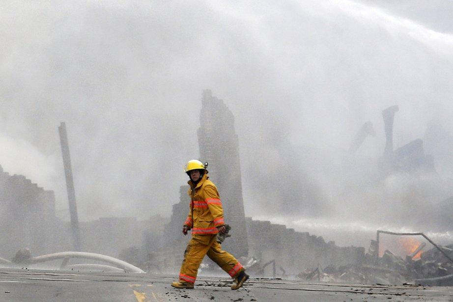 L'explosion d'un train a dévasté le centre-ville de... (Photo: Mathieu Bélanger, Reuters)