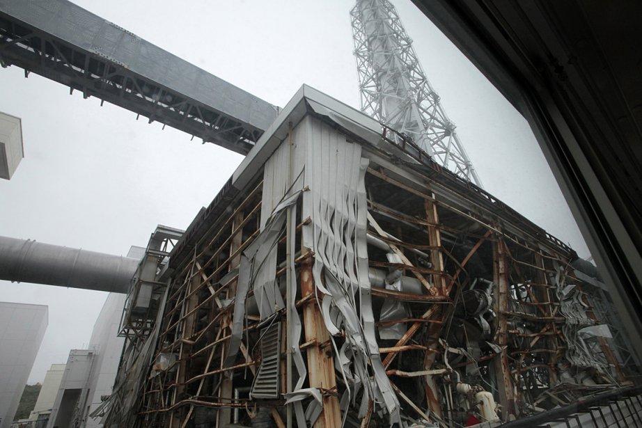 L'un des bâtiments détruits de la centrale Fukushima... (Photo: Reuters)