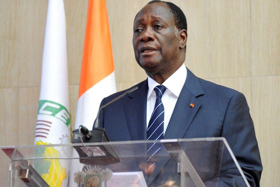 Le président de la Côte d'Ivoire Alassane Ouattara.... (PHOTO SIA KAMBOU, ARCHIVES AFP)