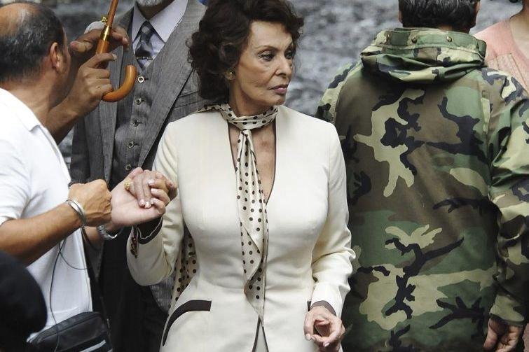 Sophia Loren sur le plateau de tournage du... (Photo: archives AFP)