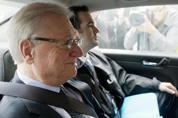 Les anciens candidats Serge Ménard, Thomas Mulcair et... (Photo: David Boily, archives La Presse)