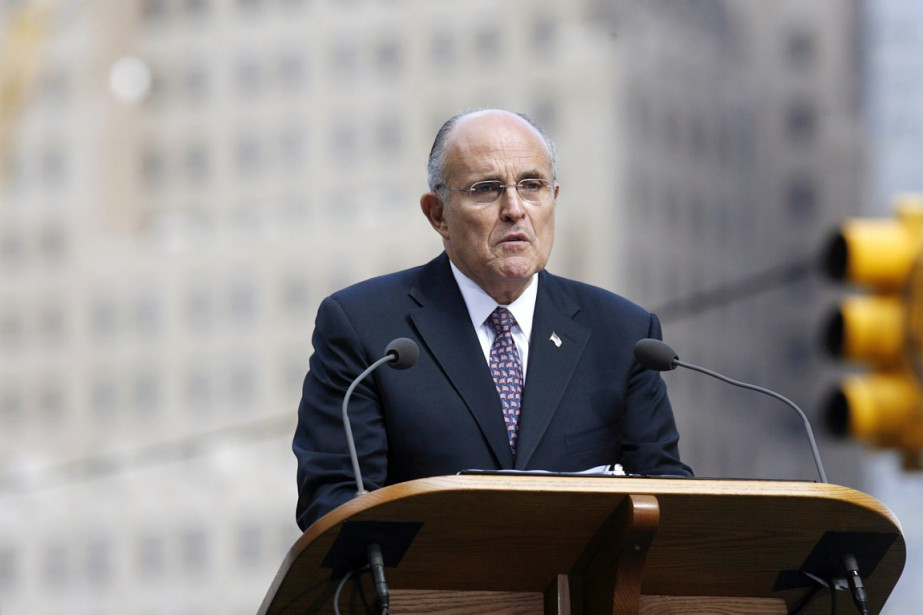 L'ancien maire de New York Rudolph Giuliani... (PHOTO PATTI SAPONE, ARCHIVES BLOOMBERG NEWS)