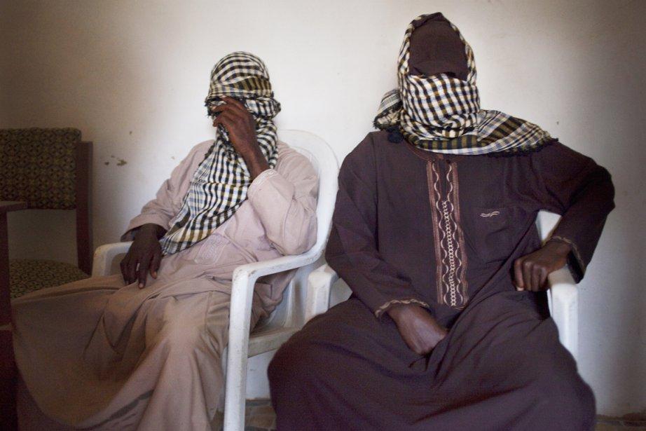 Deux membres de Boko Haram, en banlieue de... (PHOTO SAMUEL JAMES, ARCHIVES THE NEW YORK TIMES)