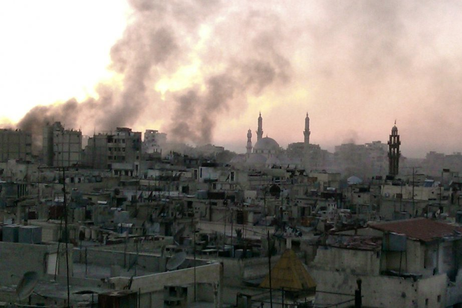 Homs, ville symbolique de la révolution syrienne, est... (PHOTO AFP, SHAAM NEWS NETWORK)