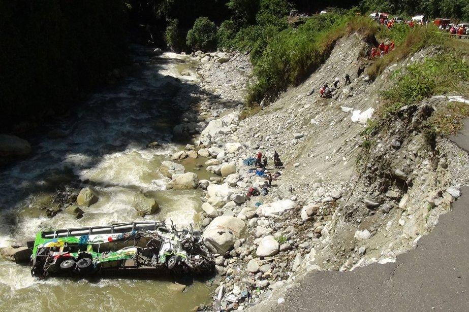 Le 19 juin, un autre accident de bus... (Photo archives AFP)