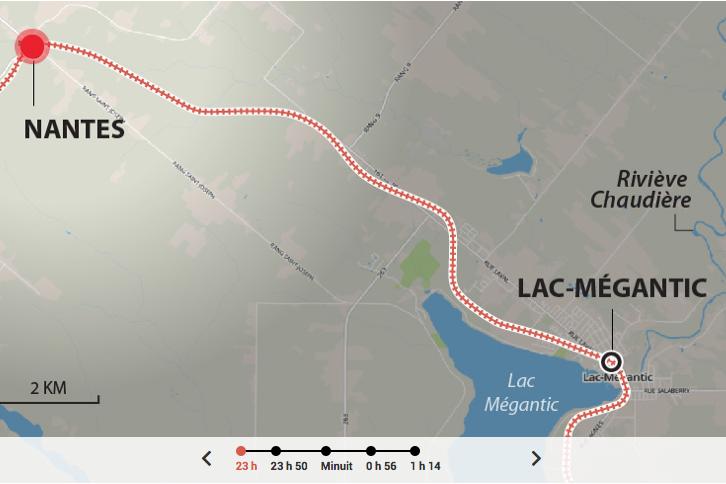 La tragédie ferroviaire du 6 juillet 2013 à Lac-Mégantic a... (Capture d'écran)