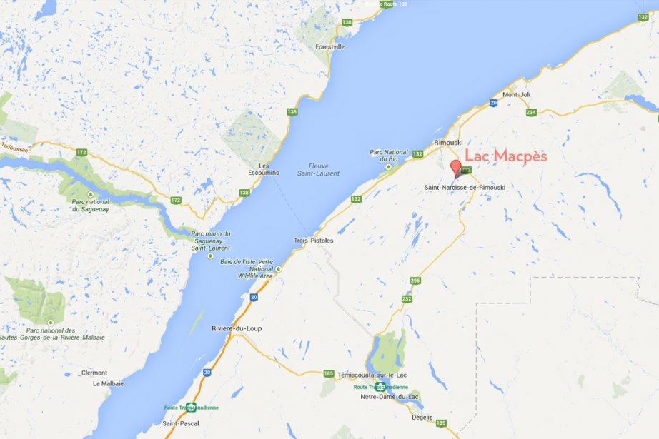 Un homme de 72 ans s'est noyé samedi soir à Saint-Narcisse,... (maps.google.ca)
