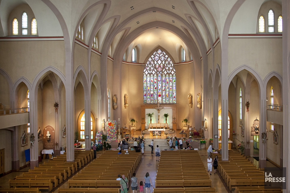 L'église Sainte-Agnès, à Lac-Mégantic, a été épargnée par... (Photothèque La Presse)