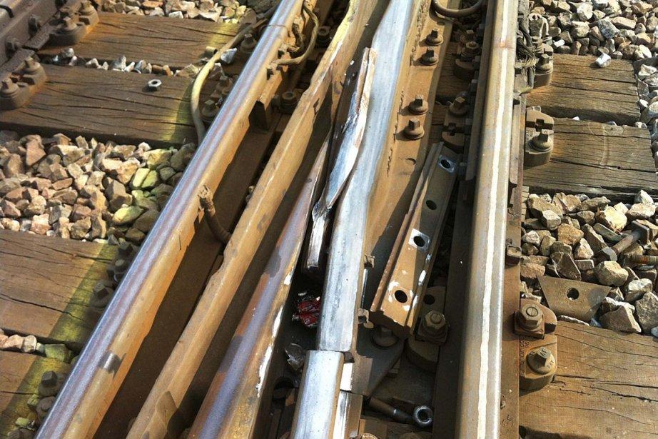 Des traces de choc ont été relevées sur... (Photo: fournie par la SNCF)