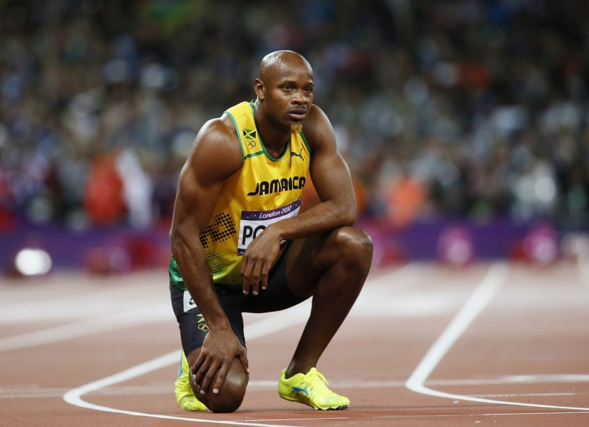 L'ancien recordman du 100 mètres Asafa Powell a... (Photo: AP)