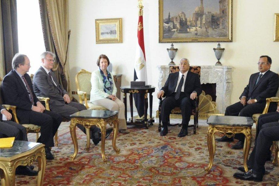 Le gouvernement de transition égyptien a reçu mercredi... (Photo AFP)