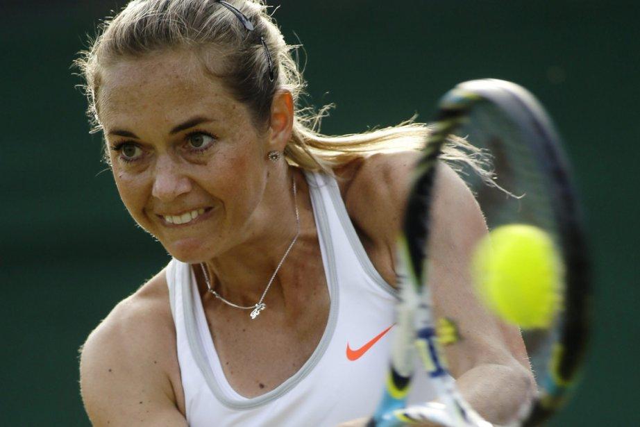 La Tchèque Klara Zakopalova a réussi cinq bris... (Photo : Alastair Grant, archives AP)