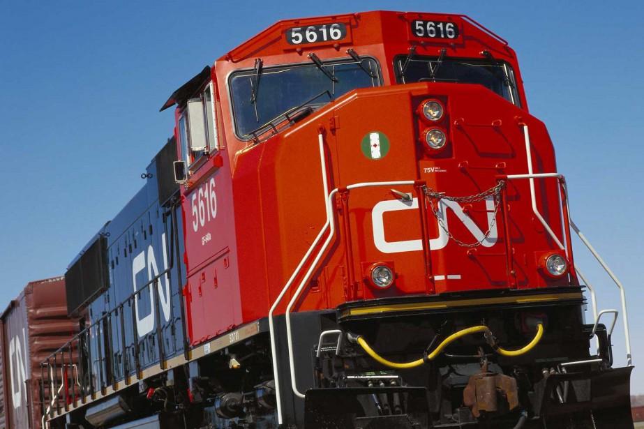 Une locomotive du Canadien National.... (PHOTO ARCHIVES REUTERS)