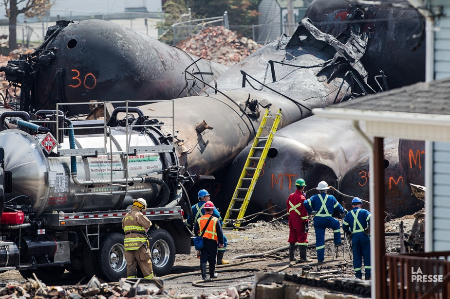 L'accident ferroviaire à Lac-Mégantic a détruit une grande... (Photo: Édouard Plante-Fréchette, La Presse)