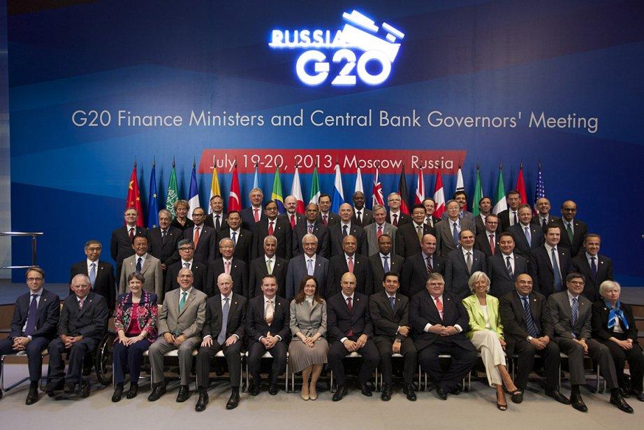 Les ministres des Finances et banquiers centraux des... (Photo: AP)