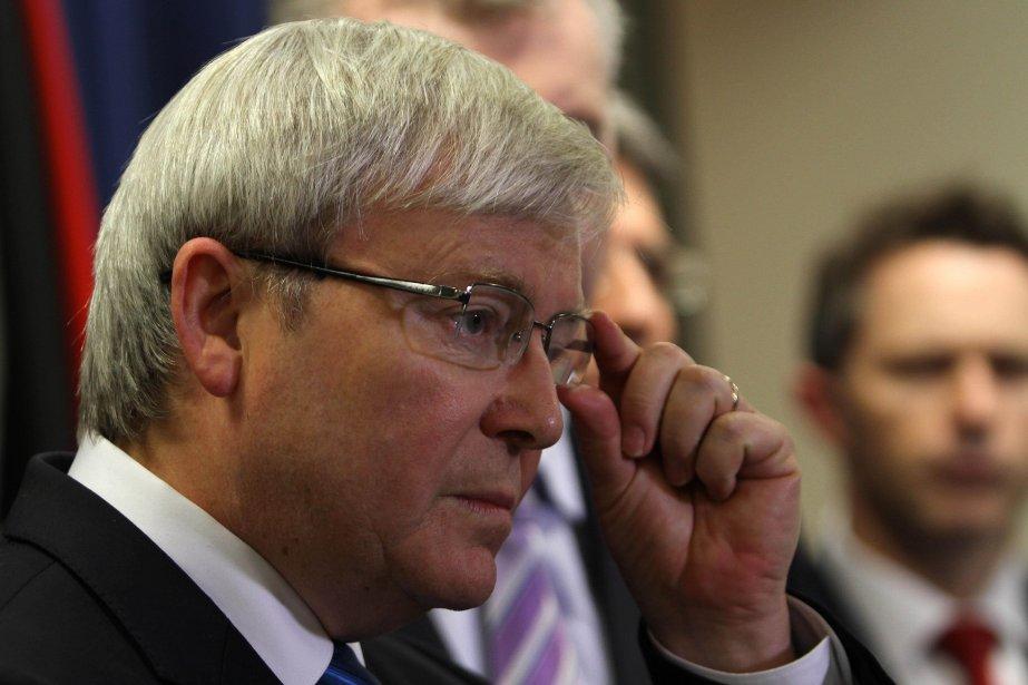 Le premier ministre australien Kevin Rudd.... (Photo Aman Sharma, AFP)