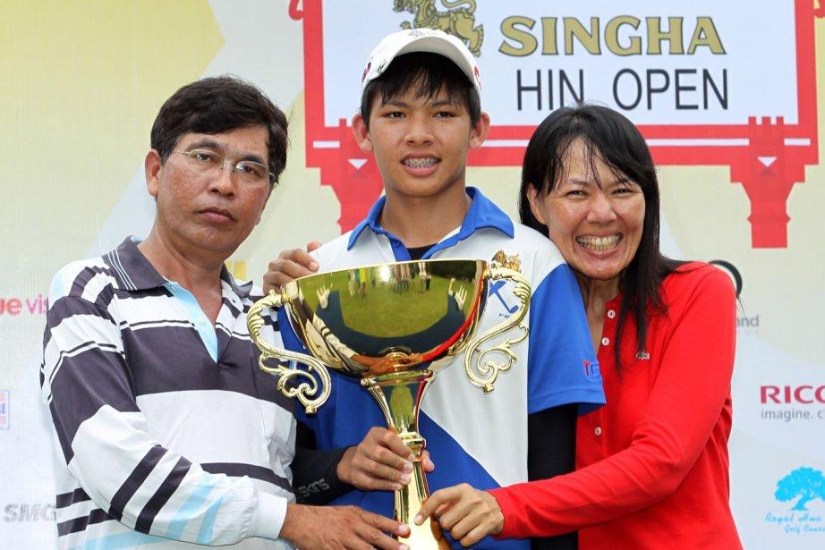 Un joueur thaïlandais de 14 ans est devenu le plus jeune vainqueur... (Photo AFP)