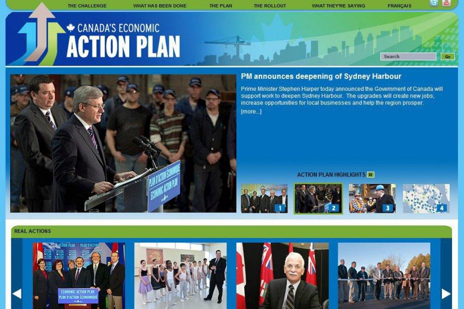 Le site web plandaction.gc.ca, lancé en 2009.... (PHOTO PC)