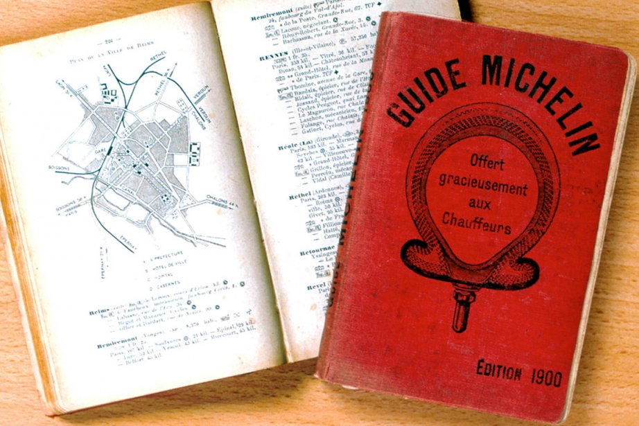 Un guide Michelin 1900.... (Photo fournie par Michelin)