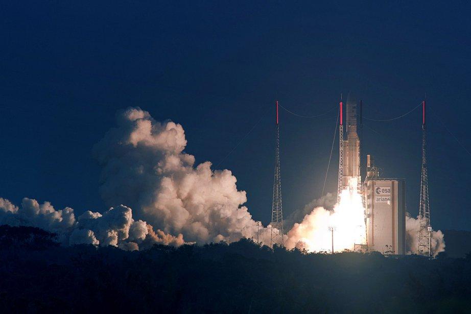 Une fusée Ariane 5 lors d'un lancement de... (Photo archives AFP)