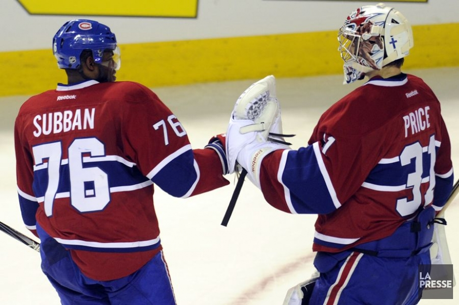 P.K. Subban et Carey Price... (Photo: Bernard Brault, archives La Presse)