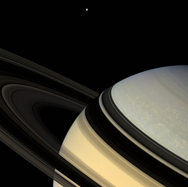 Photo de Saturne prise en 2007 par Cassini. | 23 juillet 2013