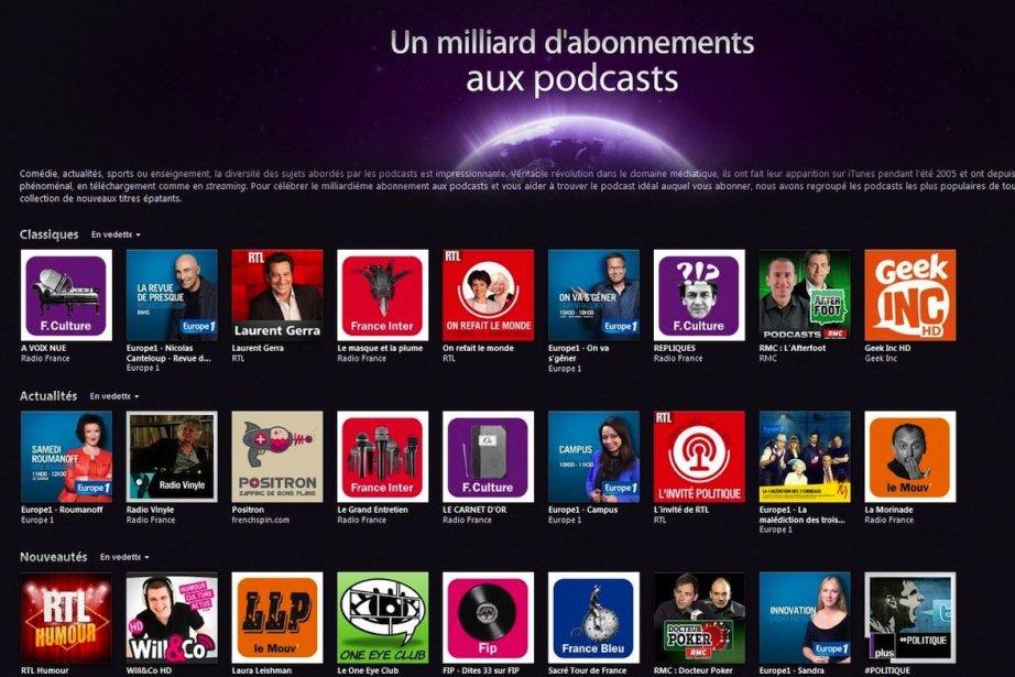 iTunes comptabilise plus d'un milliard d'abonnements à ses... (Photo Apple)