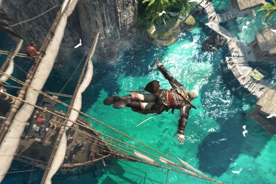 Edward Kenway est champion de plongeon dansAssassin's Creed... (Photo Ubisoft)