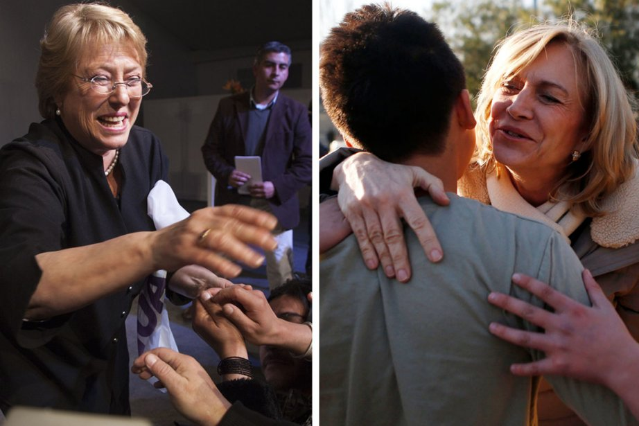 L'ex-présidente Michèle Bachelet (à gauche)devrait affronterl'ex-ministre du Travail... (PHOTOS AFP ET REUTERS)