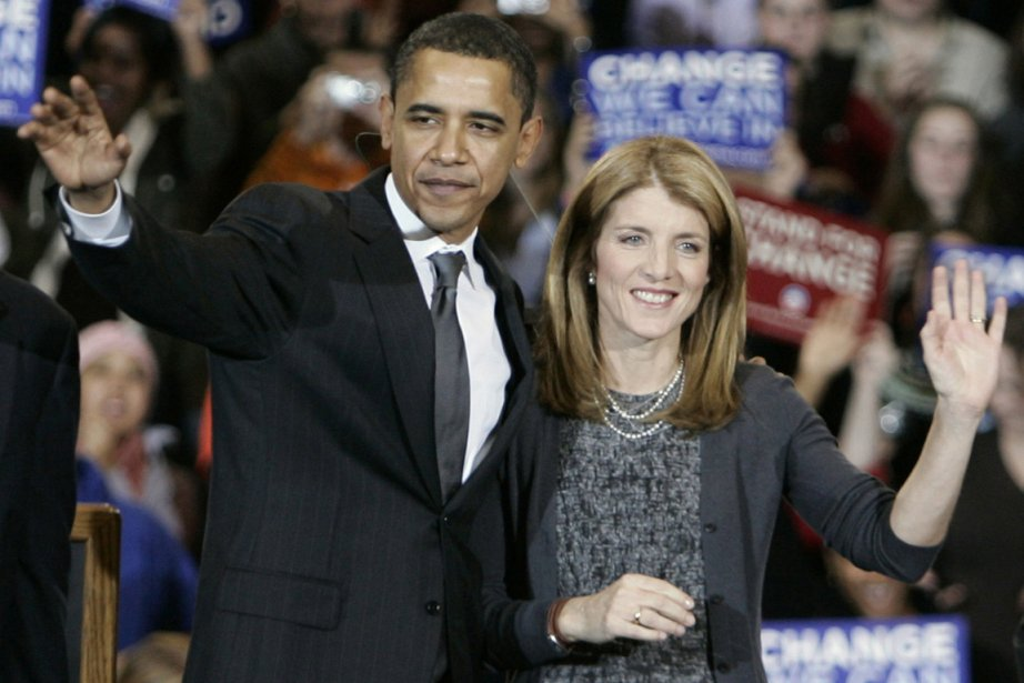 Barack Obama et Caroline Kennedy, en 2008... (Photo archives AP)