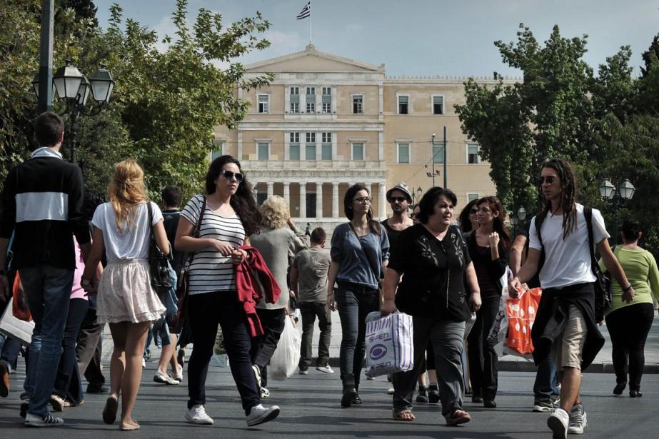 La Grèce traverse actuellement sa sixième année de... (Photo AFP)