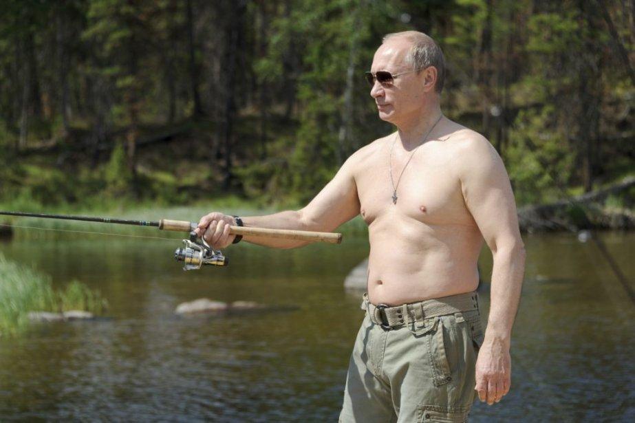 Le président russe, ex-agent du KGB et sportif... (Photo AFP)