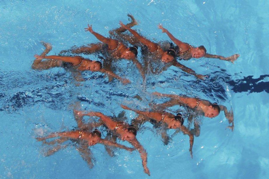 Les nageuses russes avaient aussi tout raflé lors... (PHOTO ALBERT GEA, REUTERS)