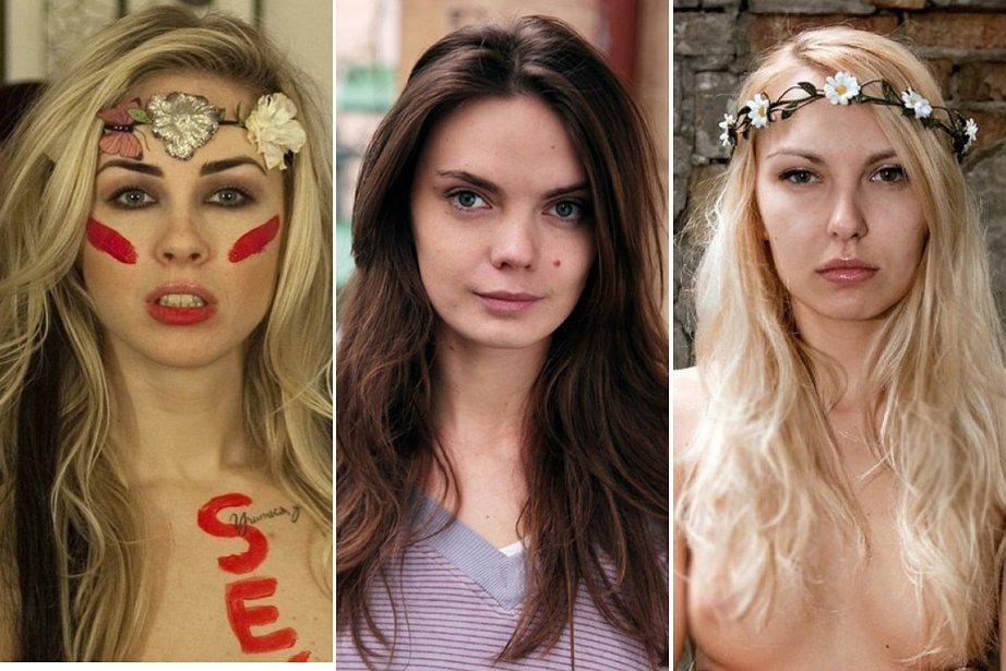 Les Femen Oleksandra Chevchenko, Oksana Chatchko et Iana... (PHOTO AFP/FEMEN)