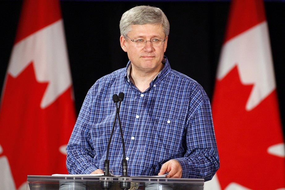 Stephen Harper, le premier ministre du Canada.... (PHOTO JEFF MCINTOSH, LA PRESSE CANADIENNE)
