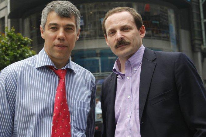Ilya Segalovich (à gauche) et le pdg Arkady...