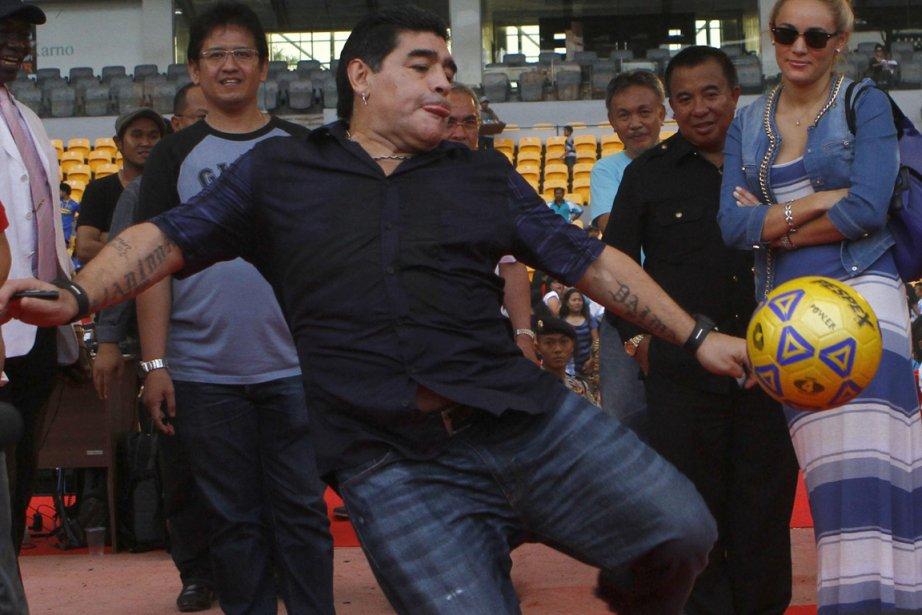 Diego Maradona s'est souvent plaint que les médias... (Photo : Achmad Ibrahim, archives AP)