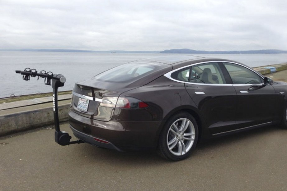 Le EcoHitch installé sur une Tesla S.... (Photo fournie par Torklift Central)