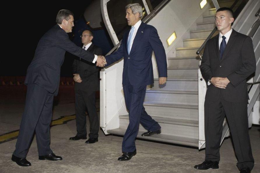 Le chef de la diplomatie américaine, arrivé à... (Photo AFP)