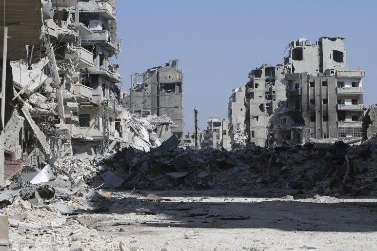 Le quartier de Khalidiyah dans la ville d'Homs... (Photo AFP)