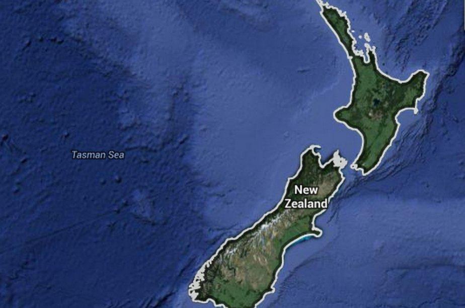 Le nom anglais des deux îles -North Island... (Carte Google)