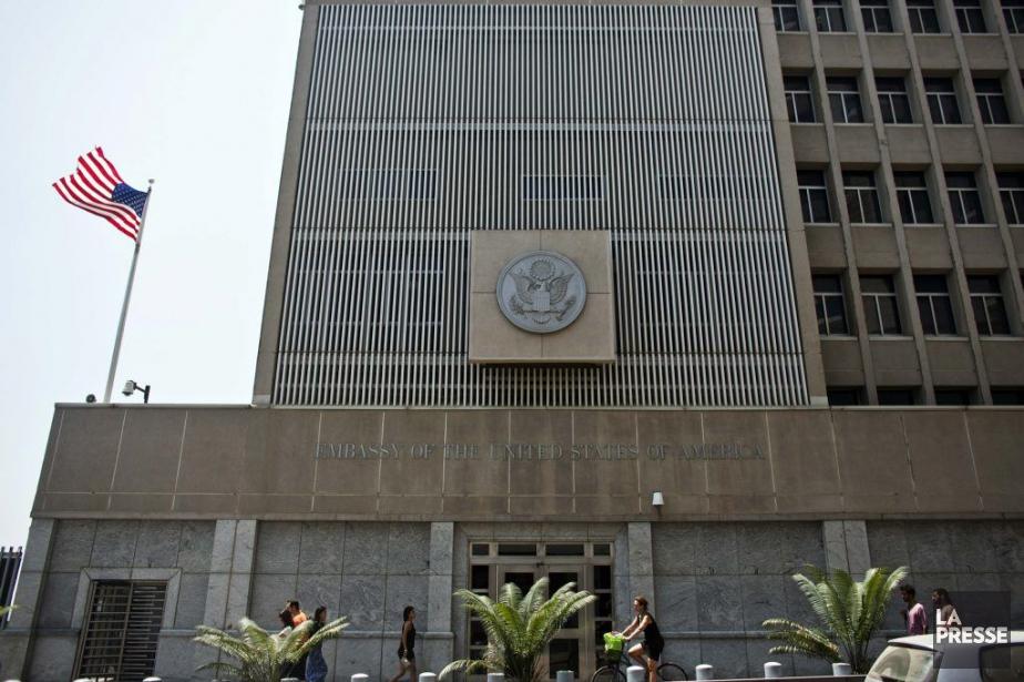 L'ambassade des États-Unis à Tel-Aviv, en Israël.... (PHOTO NIR ELIAS, archives REUTERS)