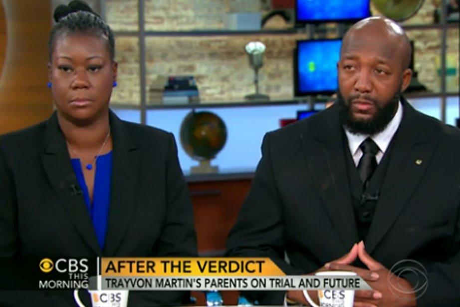 Les parents de Trayvor Martin, Sybrina Fulton et... (Photo CBS/AFP)