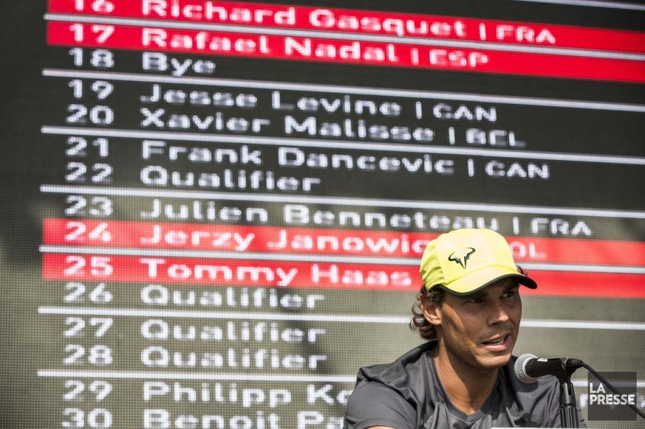 Rafael Nadal ne jouera pas avant mercredi au... (PHOTO OLIVIER PONTBRIAND, LA PRESSE)