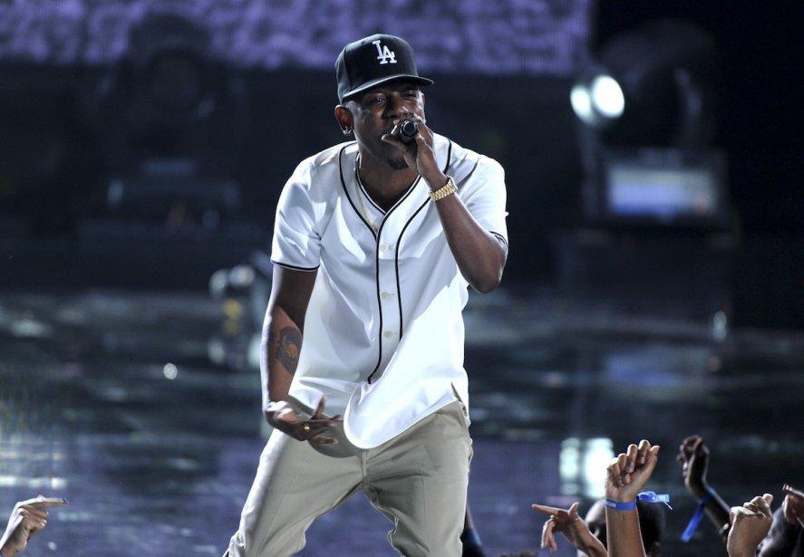 Kendrick Lamar, que l'on voit ici au BET... (Photo Frank Micelotta, Associated Press)